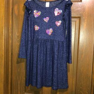 🔵Carter's Kids long sleeve sequins dress size 5